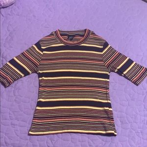 TOPSHOP Striped Fitted Top